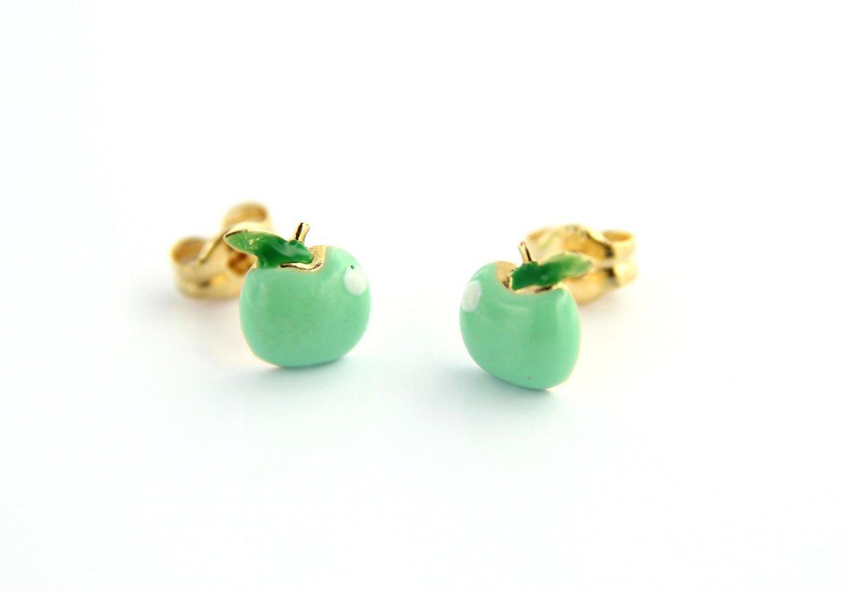 Detské náušnice CRISOLAR zelené jablká
