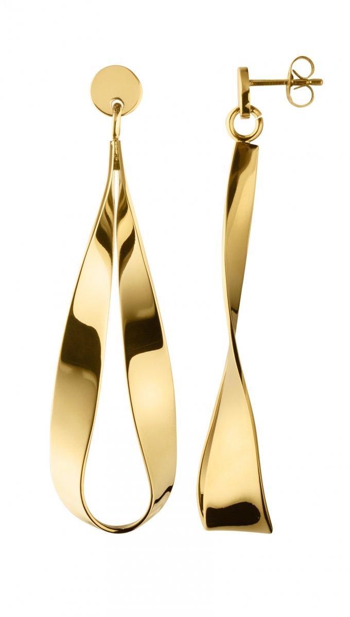 Náušnice DYRBERG/KERN ARC SHINY GOLD