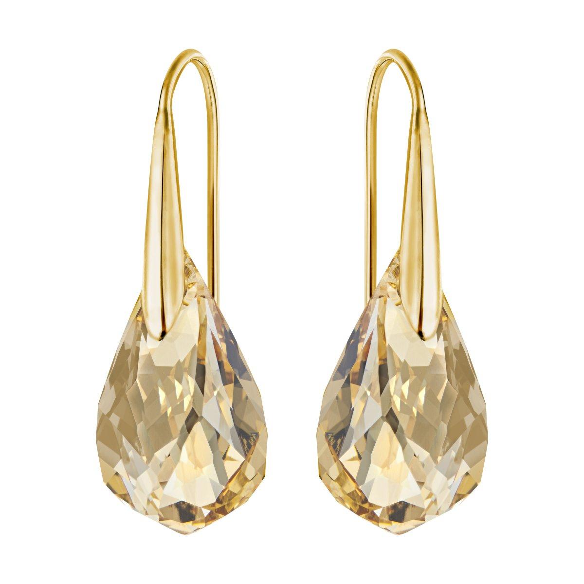 Náušnice SWAROVSKI so zlatistým krištálom