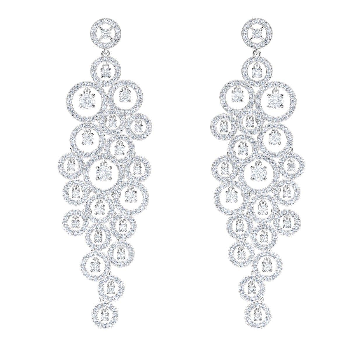 bcfe33e28 Náušnice SWAROVSKI CREATIVITY PE CHNDL CZ CRY/CZWH/RHS 5408280 | MOLOKO
