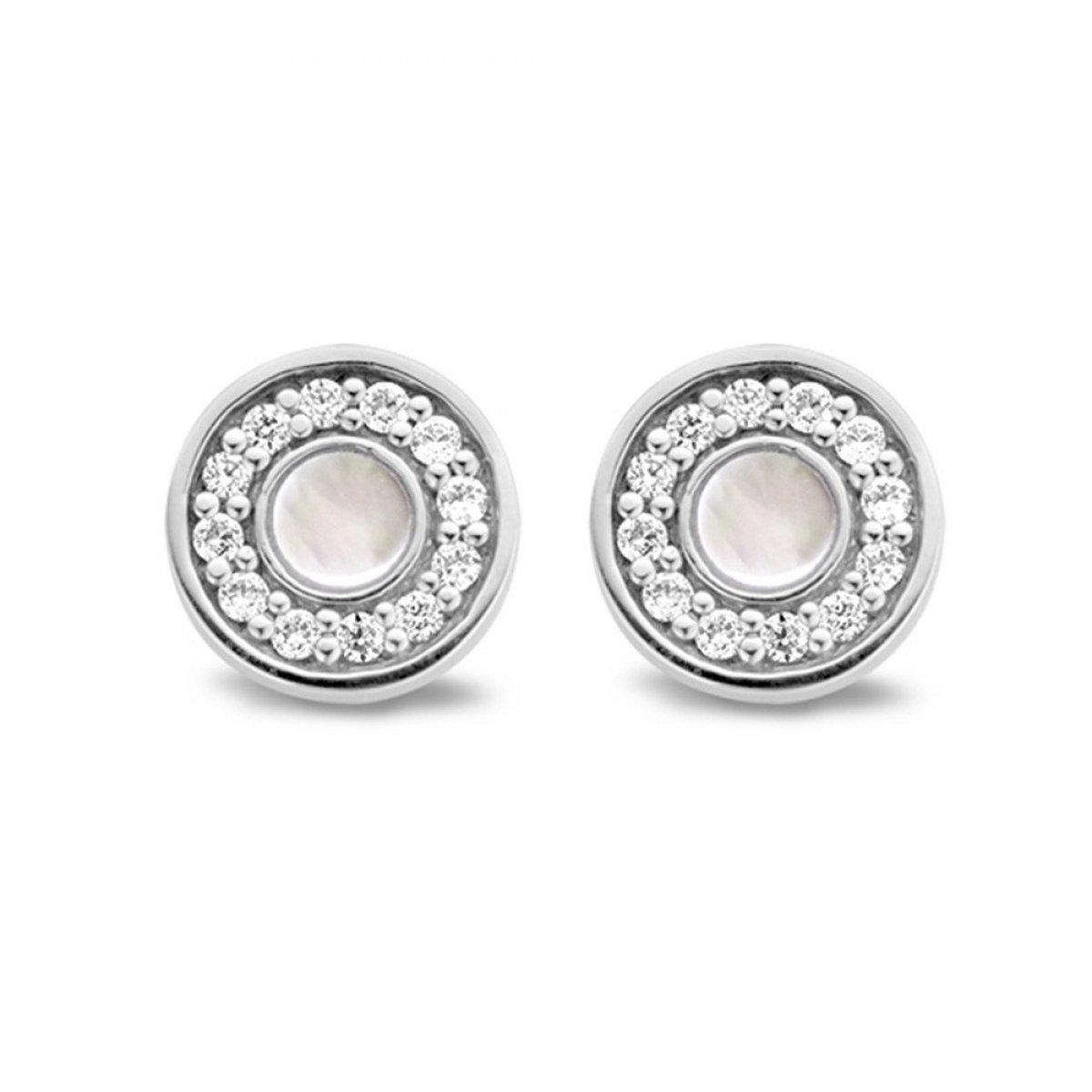Galéria Okrúhle náušnice TI SENTO s perleťou× 0f61f9226b8