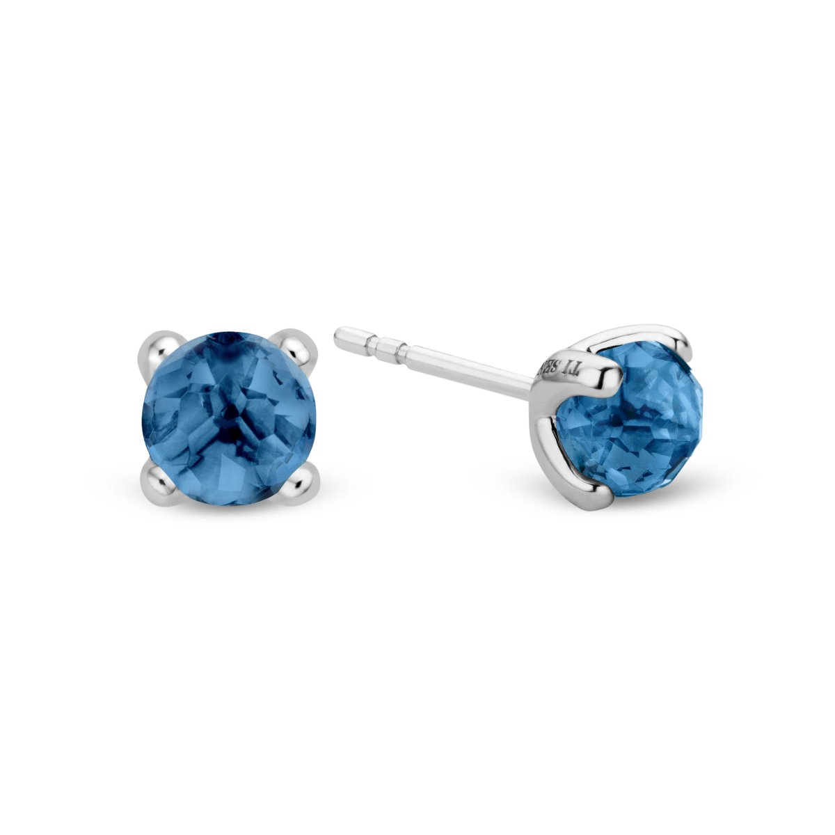Náušnice TI SENTO s modrými kamienkami