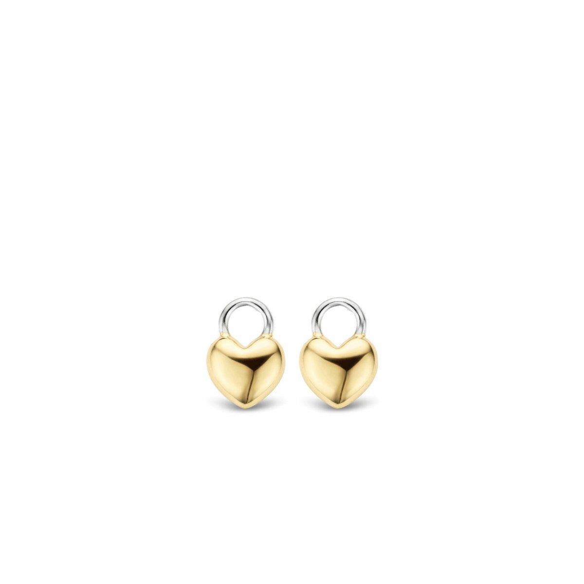Srdiečkové prívesky na náušnice TI SENTO v zlatom prevedení