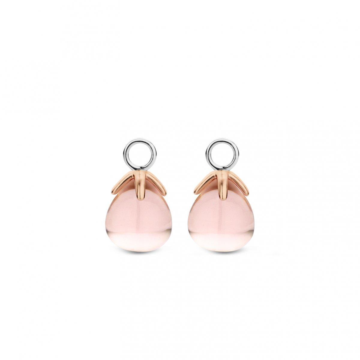 Prívesky na náušnice TI SENTO s ružovým kameňom