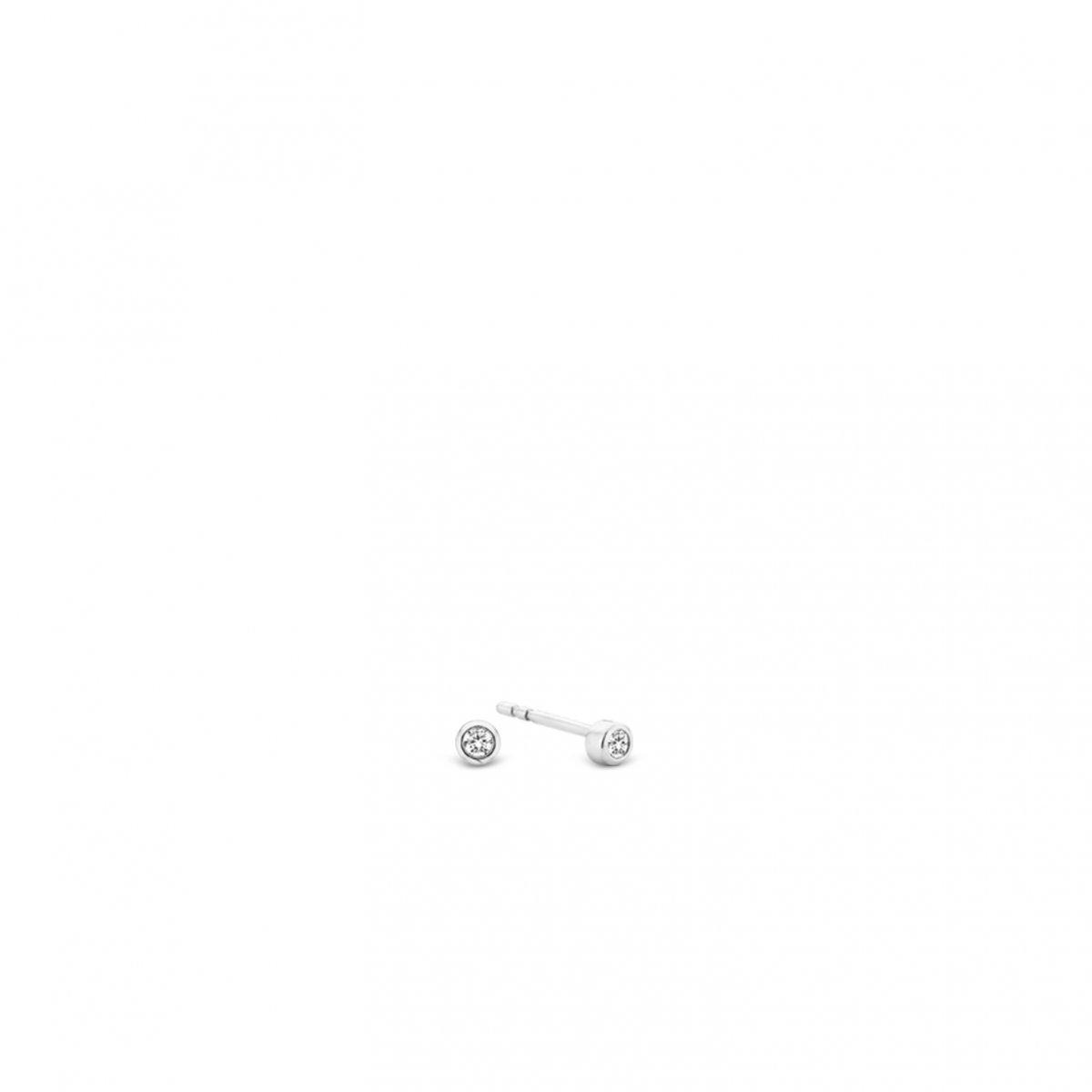 Strieborné náušnice TI SENTO so zirkónom