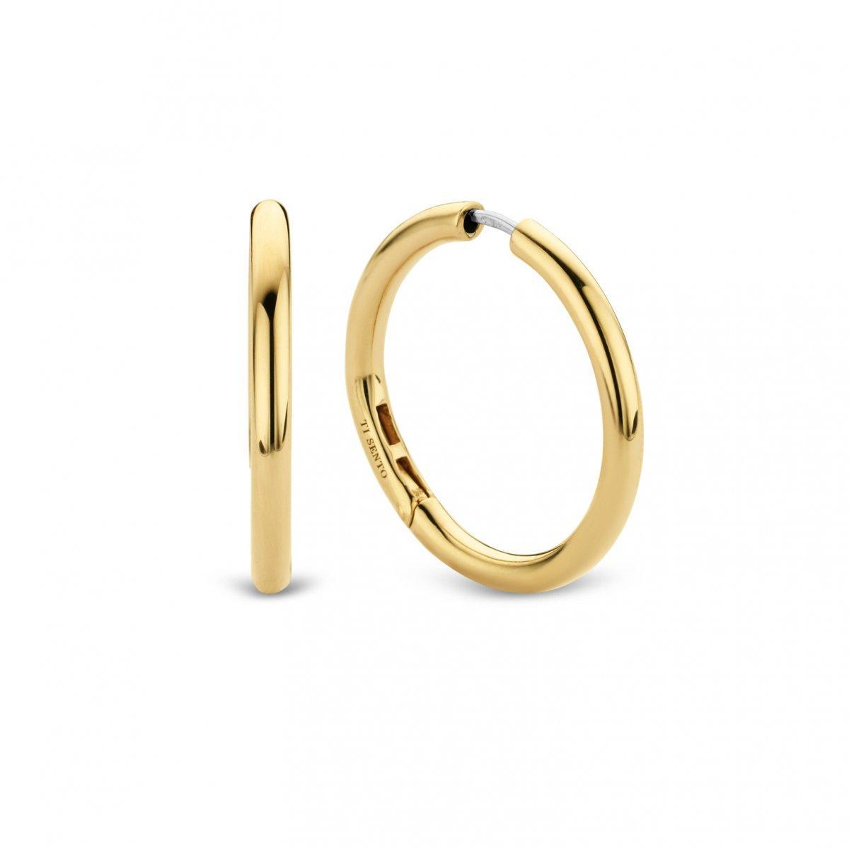 Zlaté kruhové náušnice TI SENTO