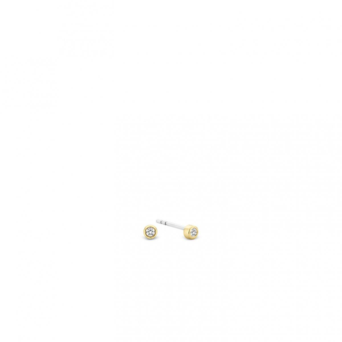Zlaté náušnice TI SENTO so zirkónom