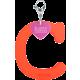Privesok I LOVE KUKU C Coral