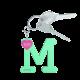 Privesok I LOVE KUKU M Mint3
