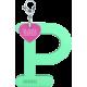 Privesok I LOVE KUKU P Mint