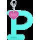 Privesok I LOVE KUKU P Turquoise
