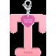 Privesok I LOVE KUKU T Baby Pink