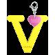 Privesok I LOVE KUKU V Yellow