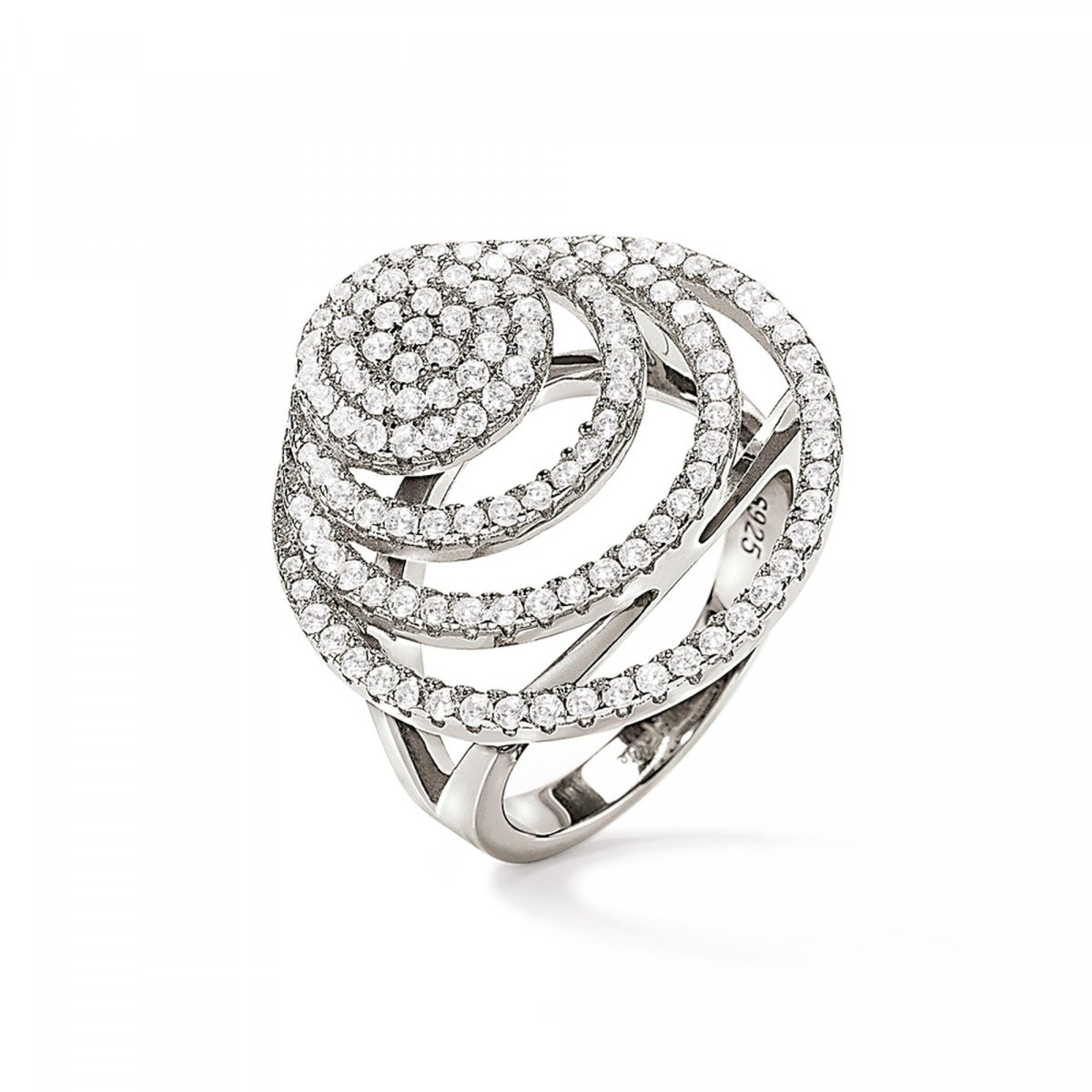 Strieborný prsteň FOLLI FOLLIE s troma kruhmi