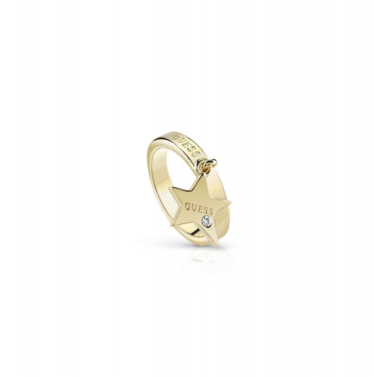 Zlatý prsteň GUESS s príveskom v tvare hviezdy