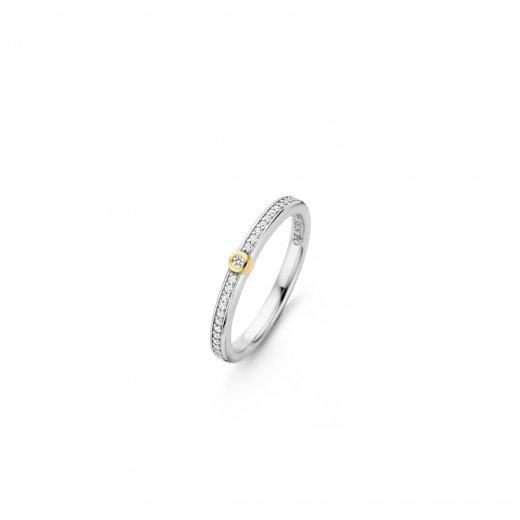 Strieborno zlaty prste TI SENTO so zirkonmi 12147ZY 1 0bb981aeb7d