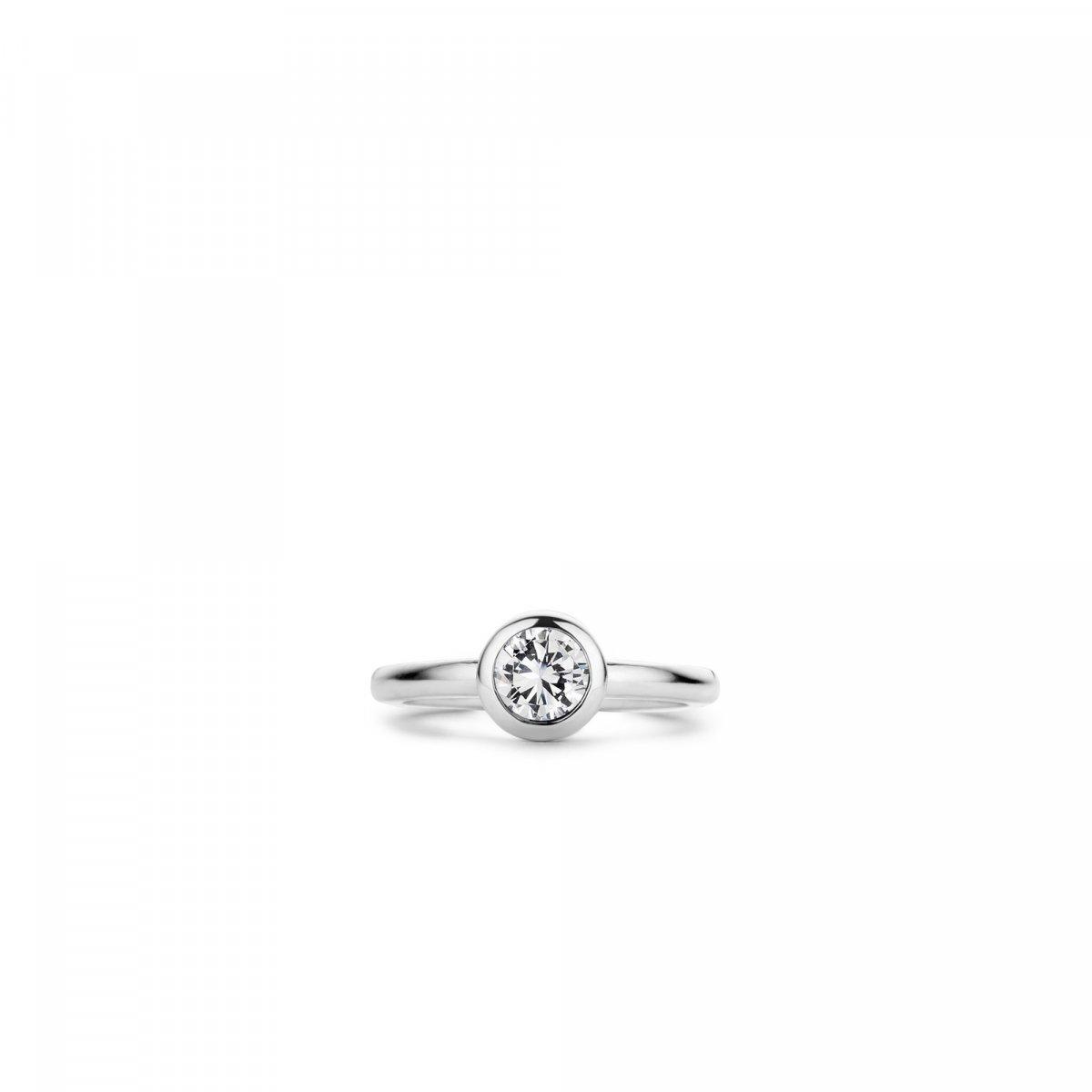 Strieborný prsteň TI SENTO s čírym zirkónom