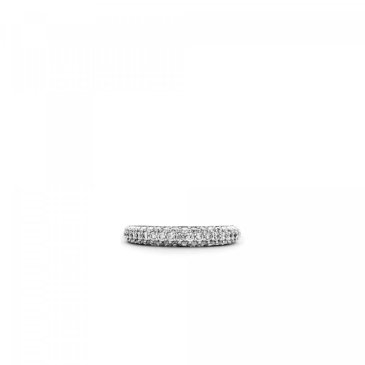 Strieborný prsteň TI SENTO s čírymi zirkónmi