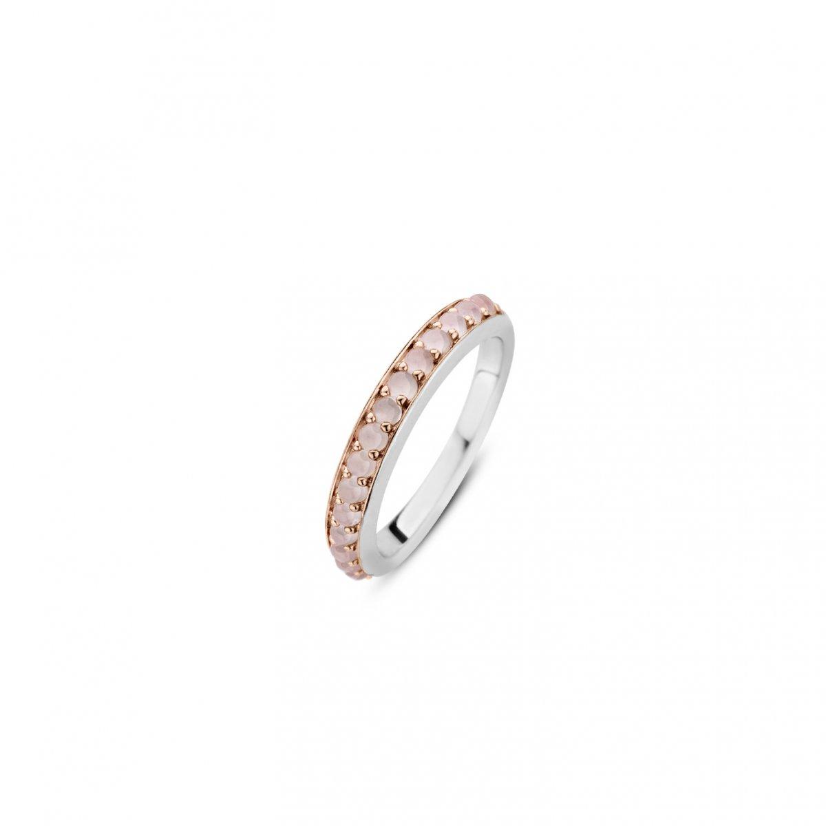 Prsteň TI SENTO s ružovým syntetickým kameňom