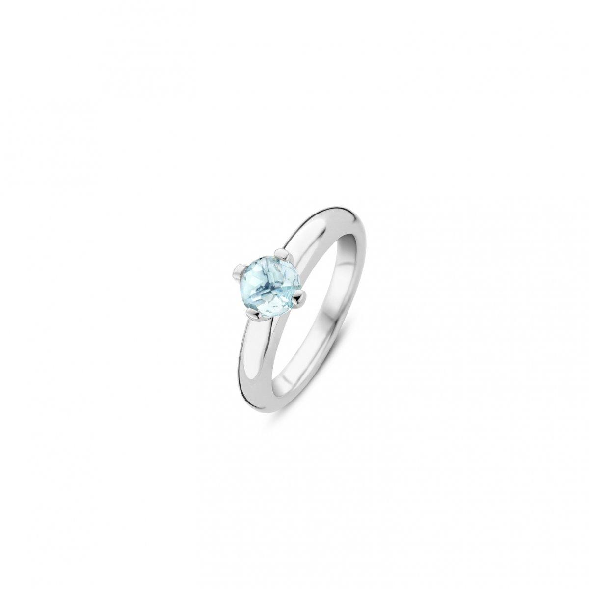 Prsteň TI SENTO s modrým syntetickým kameňom