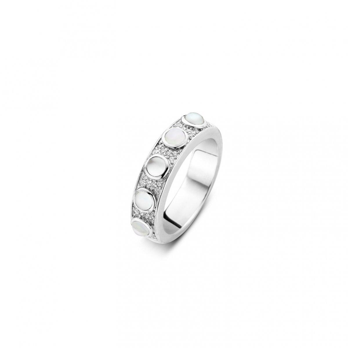 Strieborný prsteň TI SENTO s perleťou