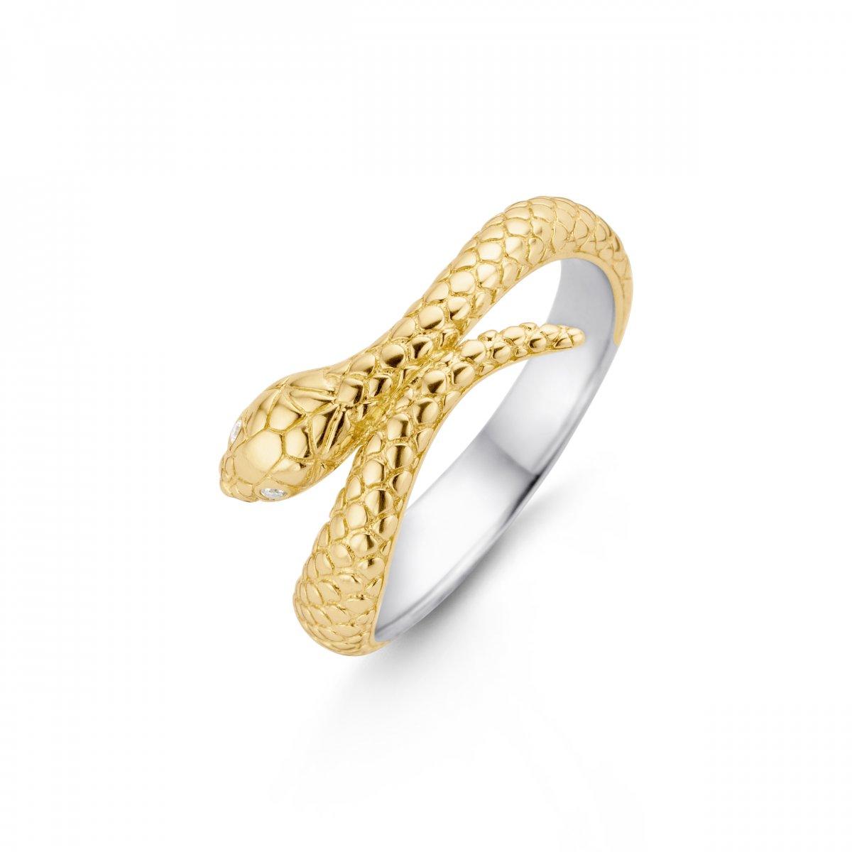 Prsteň TI SENTO s hadím vzorom
