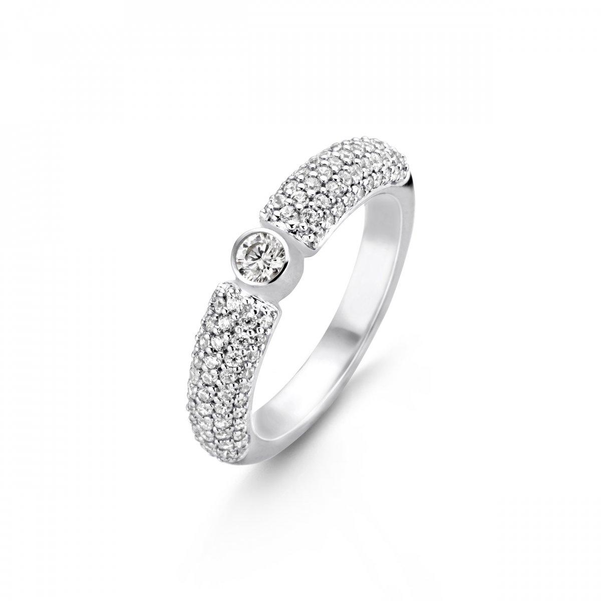 Strieborný prsteň TI SENTO