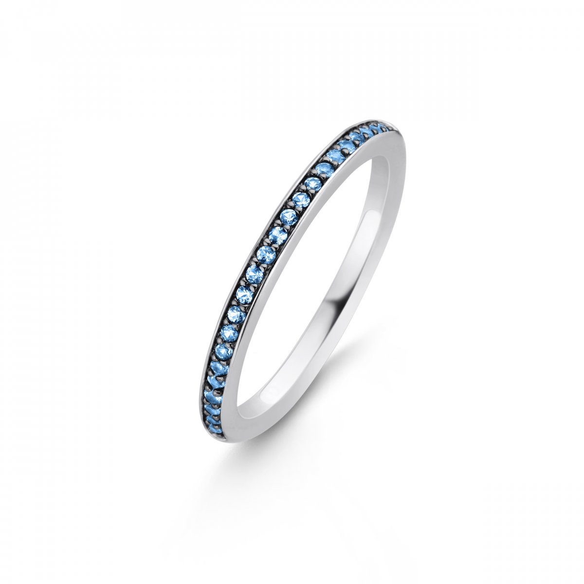 Prsteň TI SENTO s modrými kameňmi