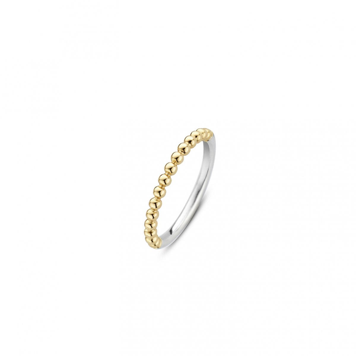 Strieborno-zlatý prsteň TI SENTO s guličkami