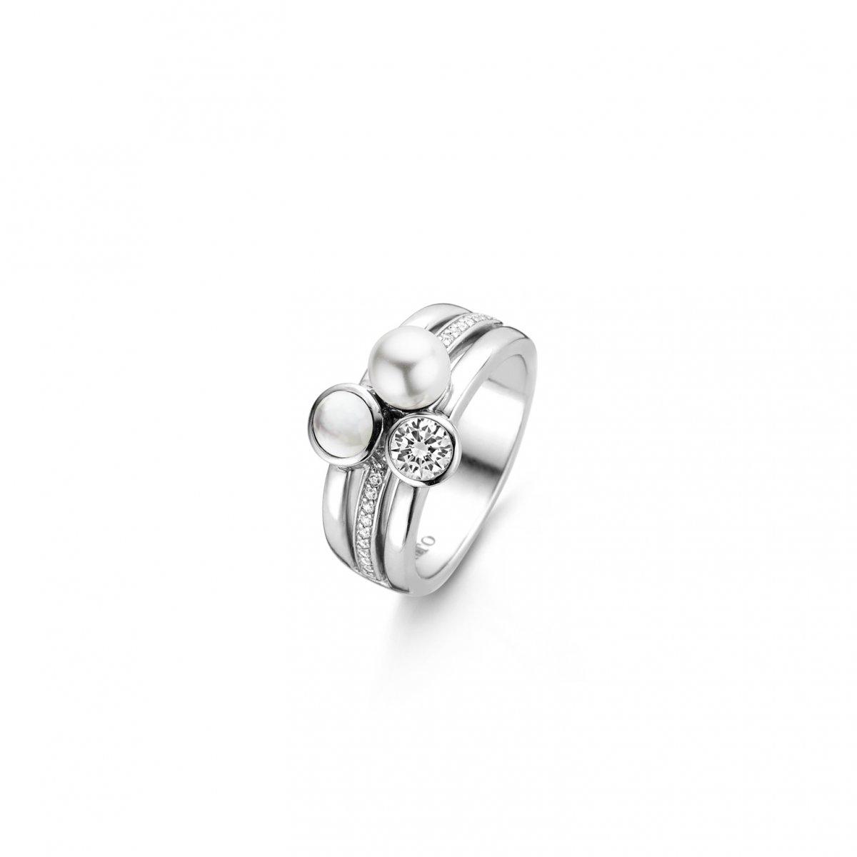 Strieborný prsteň TI SENTO so zirkónmi