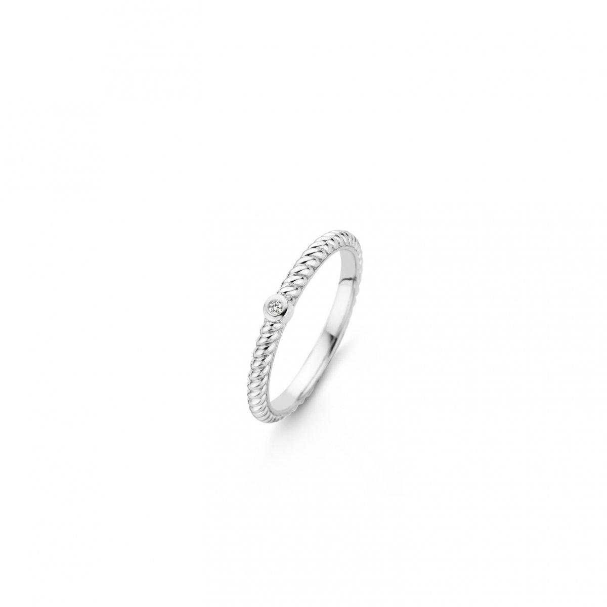 Strieborný prsteň TI SENTO so zirkónom