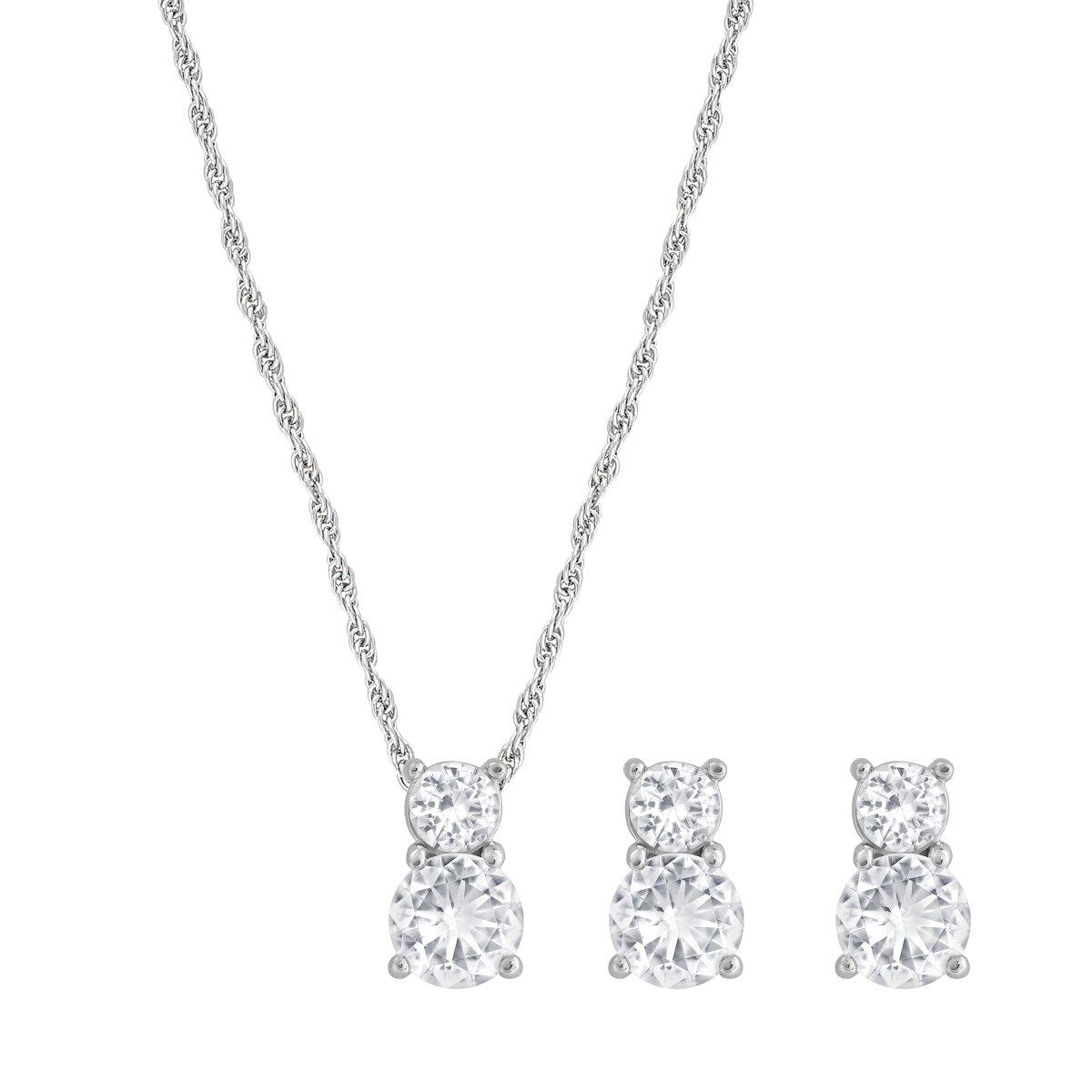 Set SWAROVSKI náušnice a náhrdelník s krištálom