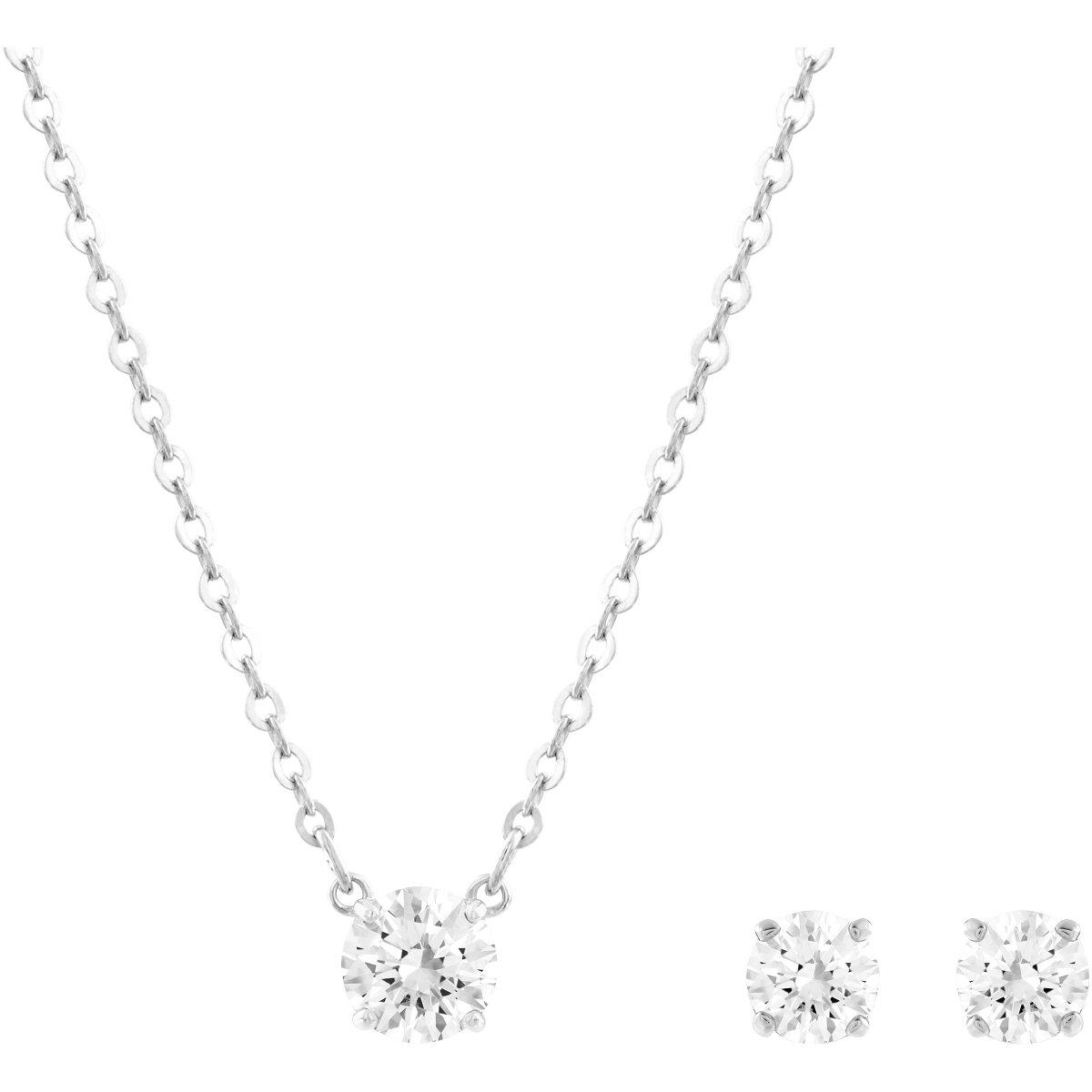 Set SWAROVSKI náušnice a náhrdelník s čírym krištálom