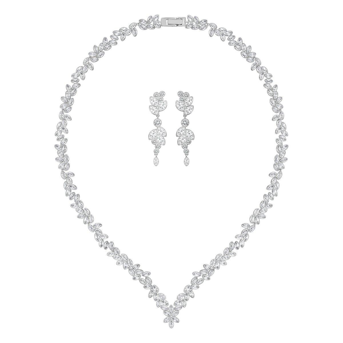 Set SWAROVSKI náušnice a náhrdelník s čírymi krištálmi