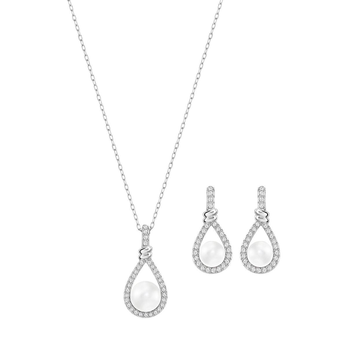 Set SWAROVSKI náušnice a náhrdelník s perlou