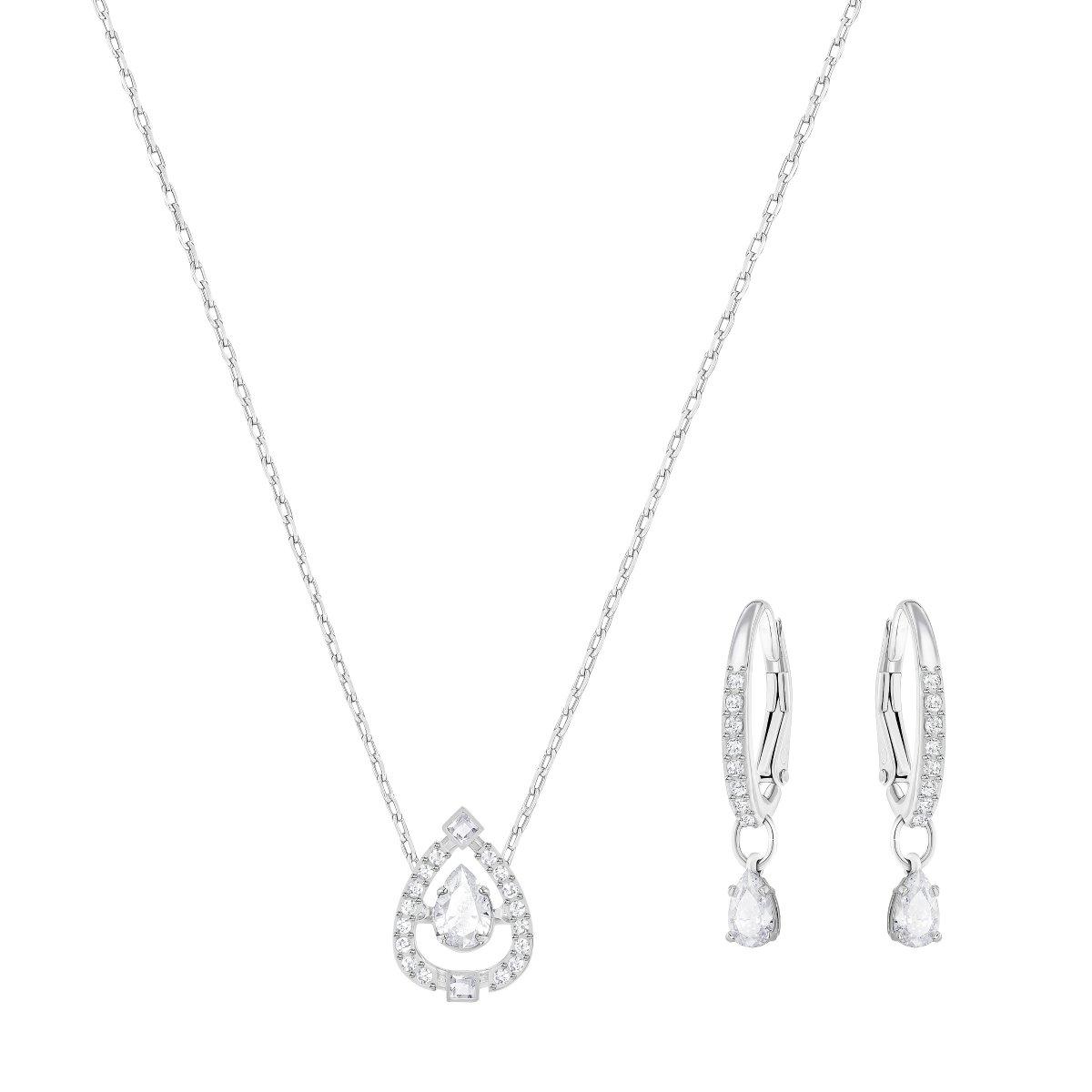 Set SWAROVSKI náušnice a náhrdelník v tvare slzy